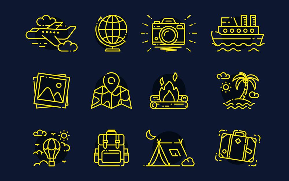 32 Free Travel Icons (AI, SVG, EPS, PSD)
