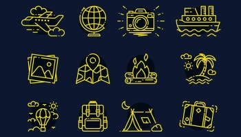 32 Free Travel Icons (AI, SVG, EPS, PSD)