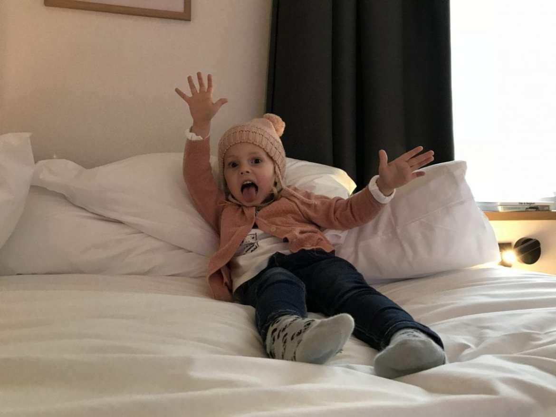 Ella approves of the Indigo Antwerp City Centre hotel beds