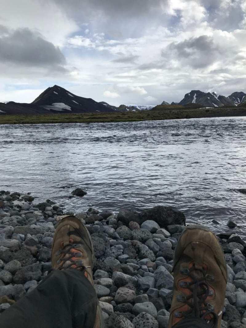 River crossing on Laugevegur