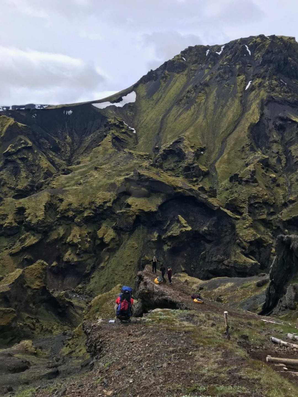 Near Thorsmork on the Fimmvörðuháls trail