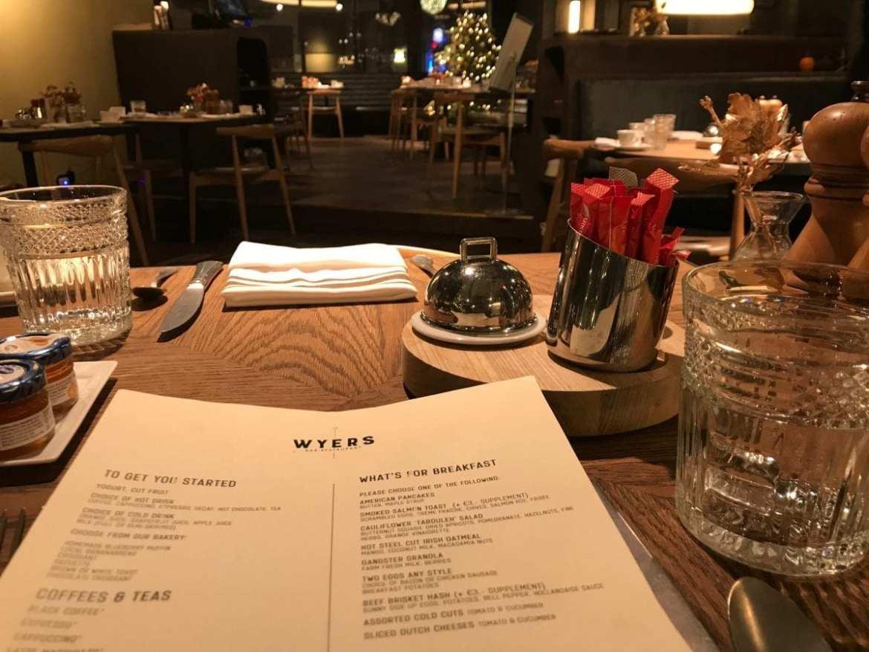 Breakfast a la carte at Wyers in Kimpton De Witt Amsterdam
