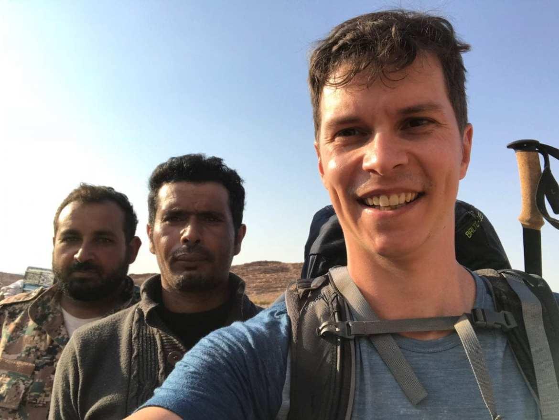 Bedouin friends at the Jordan Trail