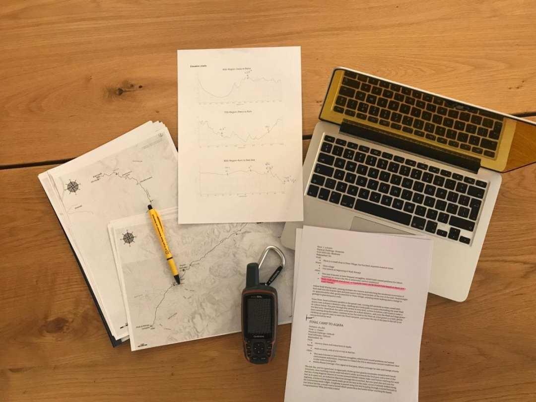 Jordan Trail Planning and preparation