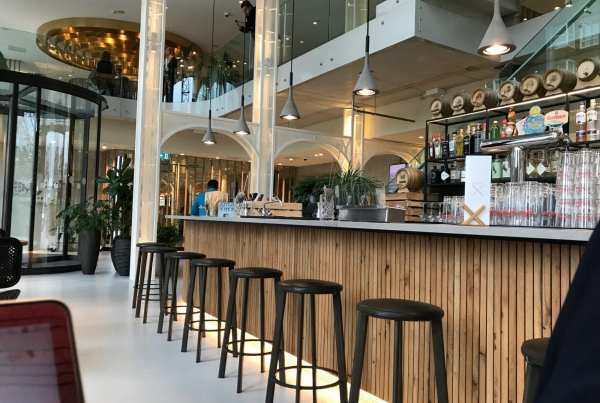 QO Amsterdam - the lobby with bar