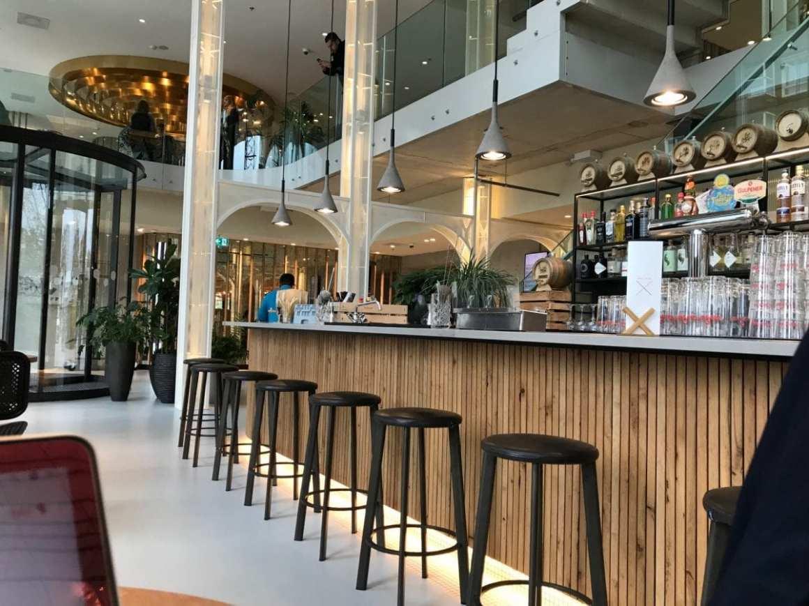 QO Amsterdam - the lobby with bar