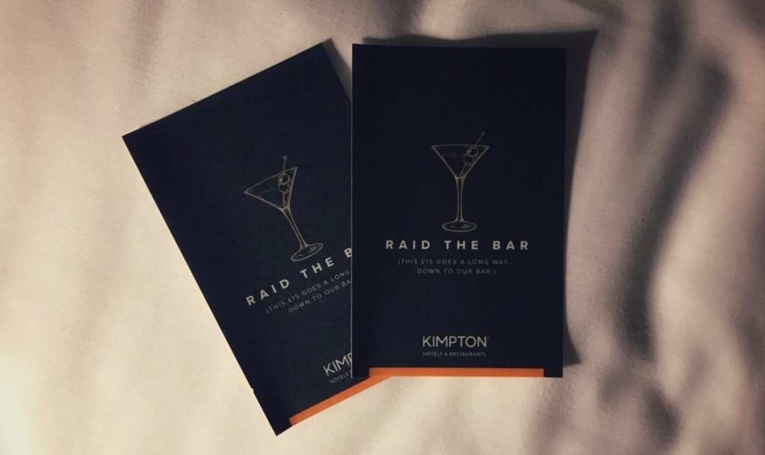 Kimpton 'Raid the bar' bar credit cards