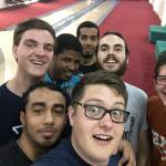 At the bowling alley