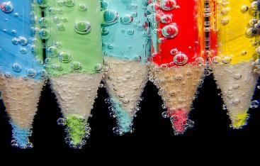 Pencils and bubbles
