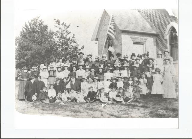 Photo of early Omard Church Congregation, circa 1900.