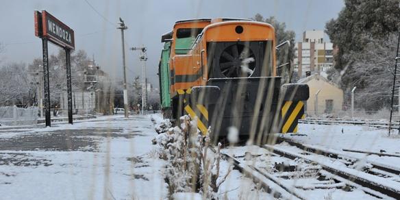 La nieve cubrió a Mendo