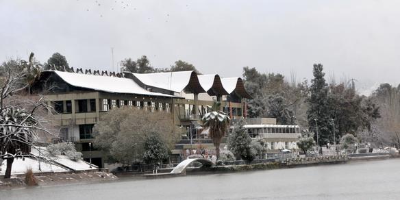 La nieve cubrió a Mendo2