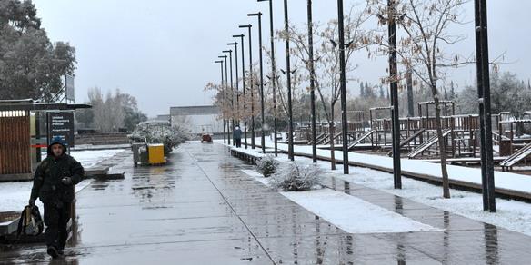La nieve cubrió a Mendo3