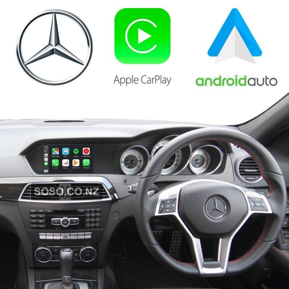 Auto Retrofit - Apple CarPlay & Android Auto Retrofit Kit for Mercedes NTG 4.5 4.7 A B C E ML Class