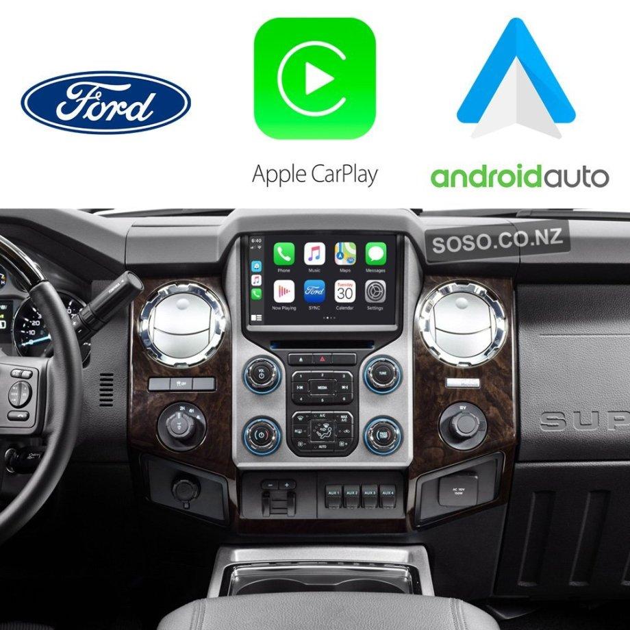 Auto Retrofit - Ford F-250 F-350 SuperDuty 2013~2017 Apple CarPlay & Android Auto Integration Kit (Wireless)