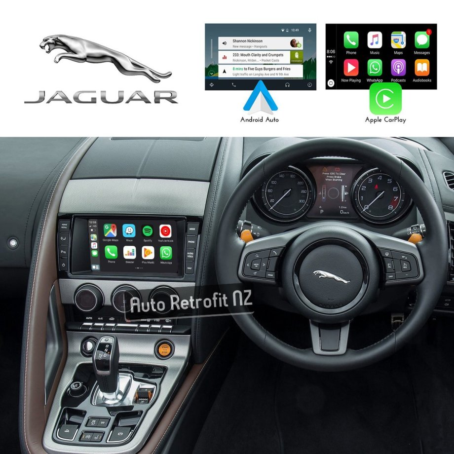 Auto Retrofit - Jaguar F-Type 2013-2016 Apple CarPlay & Android Auto Retrofit Kit (Wireless)