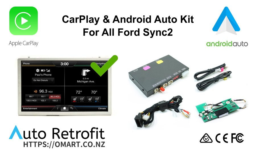 Auto Retrofit - Ford F-250 F-350 SuperDuty 2013~2017 Apple CarPlay & Android Auto Integration Kit (Wireless)