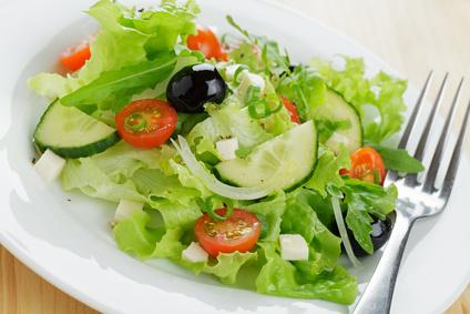 durch salat abnehmen