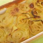 Zwiebelauflauf mit Kartoffeln