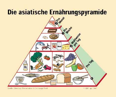 asiatische Ernaehrungspyramide