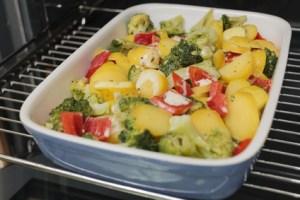Kartoffelauflauf mit Gemüse