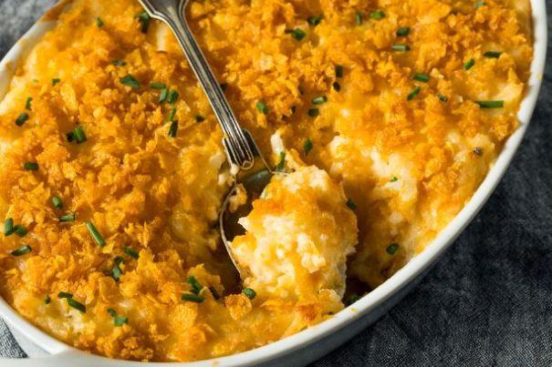 Kartoffelauflauf mit Cornflakes