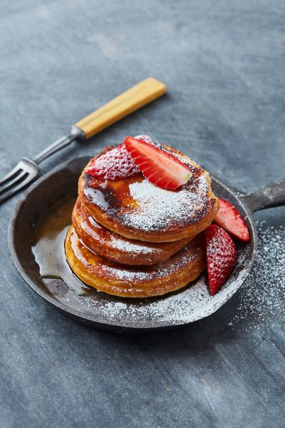 Erdbeeren Pancakes