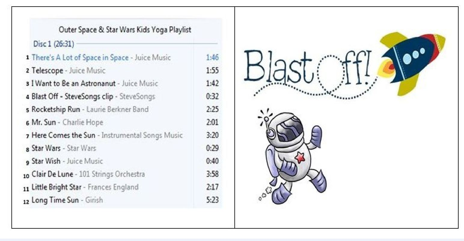 Outer Space Kids Yoga Theme