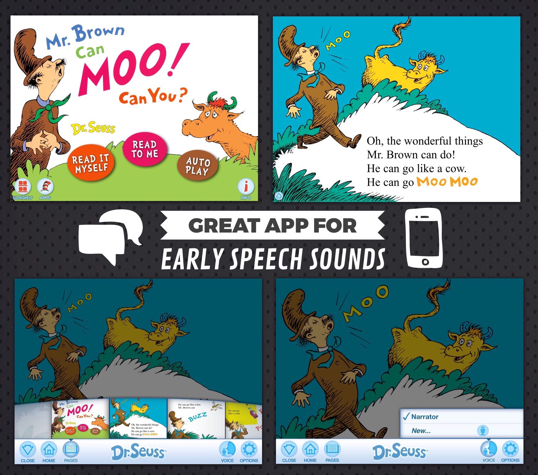 Great App For Early Speech Sounds Mr Brown Can Moo Can