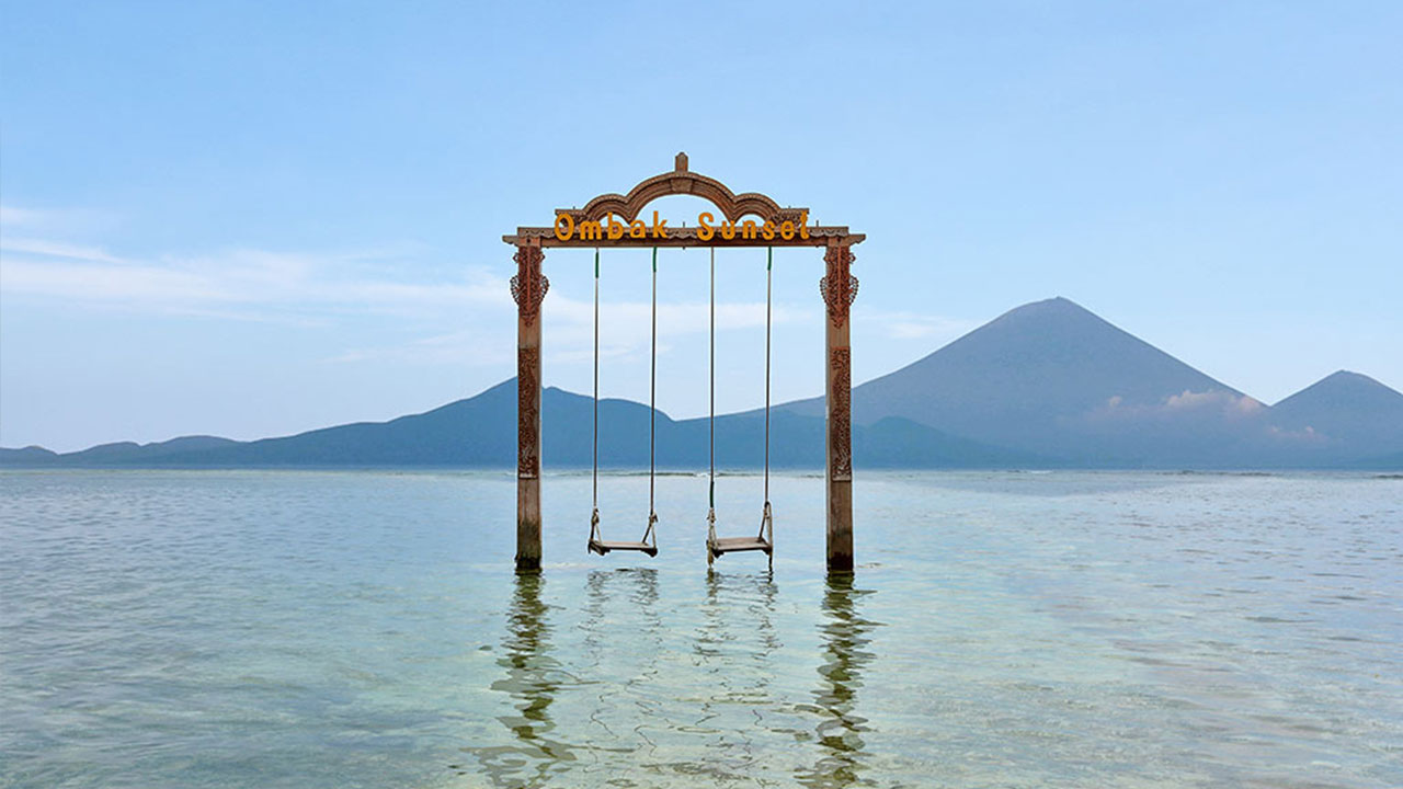 Image result for swing in gili trawangan