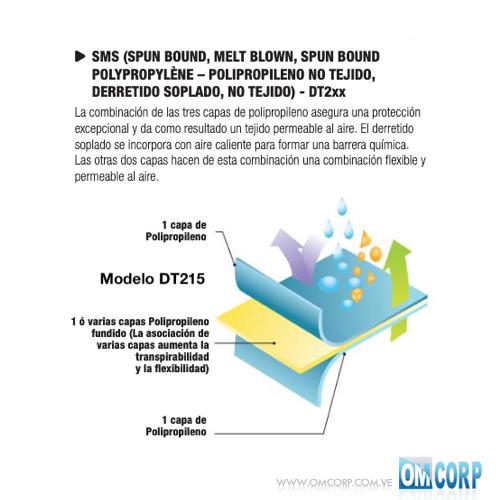 BRAGA DE SEGURIDAD BUZO CON CAPUCHA ELÁSTICA SMS BLANCA DT215 VENITEX 1