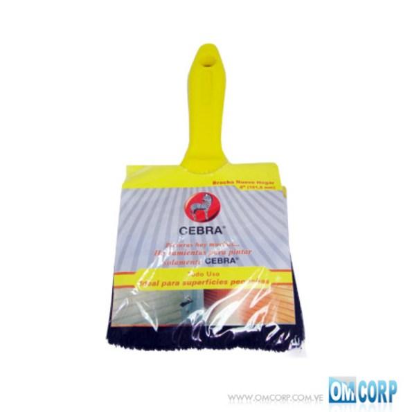 Brocha 4 Para Pintar Con Mango Amarillo Nuevo Hogar Cebra