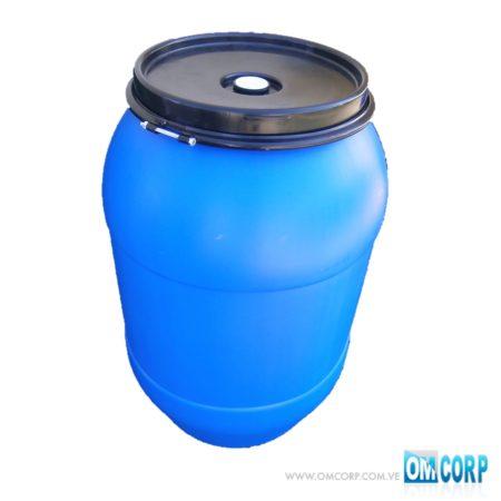 Tambor Plastico Abierto Azul 210 Litros Con Aro Multiuso MIB4745P