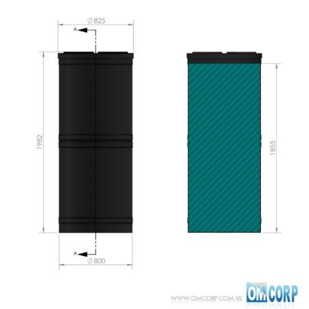TANQUE CILINDRICO PLASTICO AZUL HDPE UV 1000 LTS MIA80465P