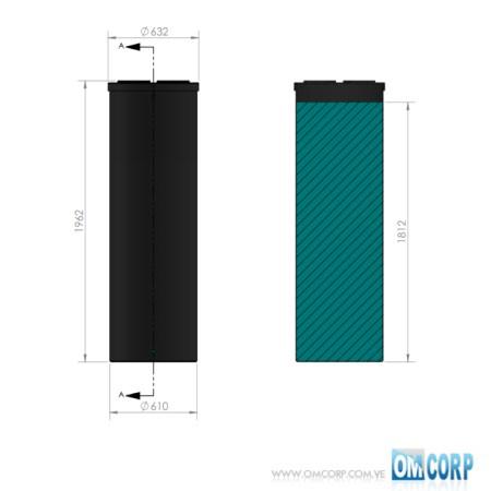 TANQUE CILINDRICO PLASTICO NEGRO HDPE UV 560 LTS MIA80474P