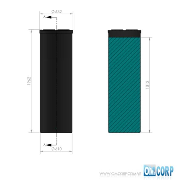 TANQUE CILINDRICO PLASTICO NEGRO HDPE UV 560 LTS MIA80474P 1