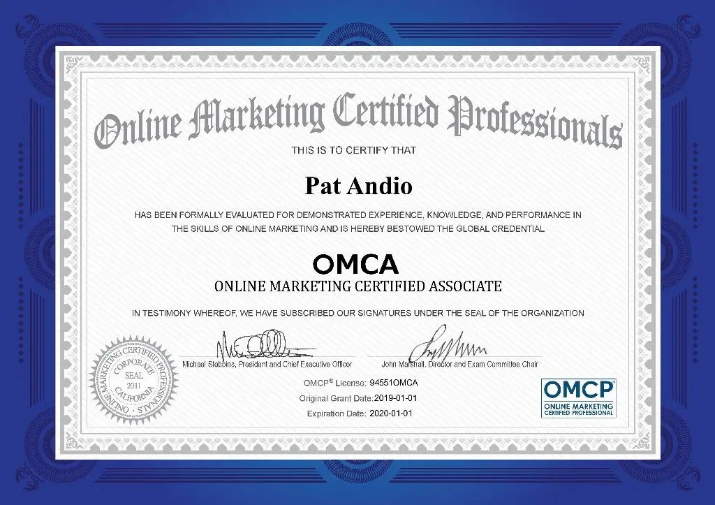 The most common use of a digital certificate is to verify t. OMCA™ Digital Marketing Certification | Independent ...