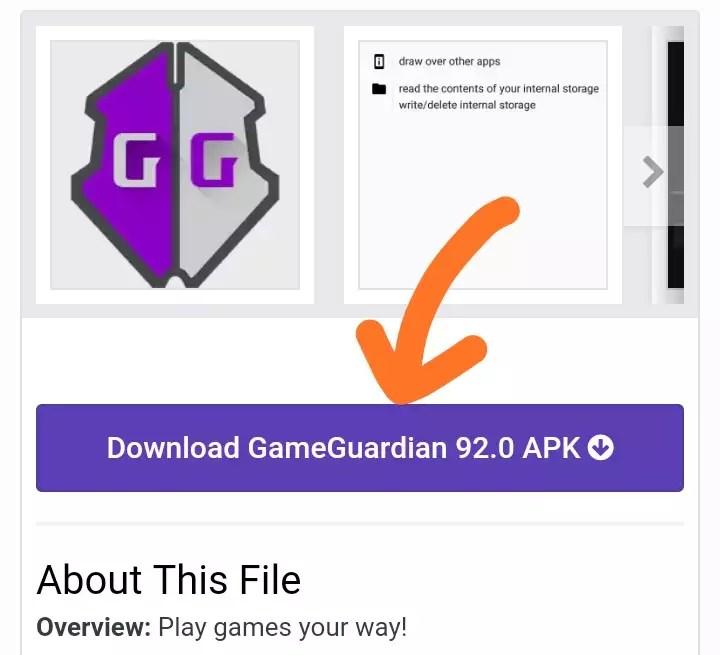 tombol download game guardian