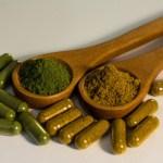 Vegetarian herbal capsules and raw organic powder