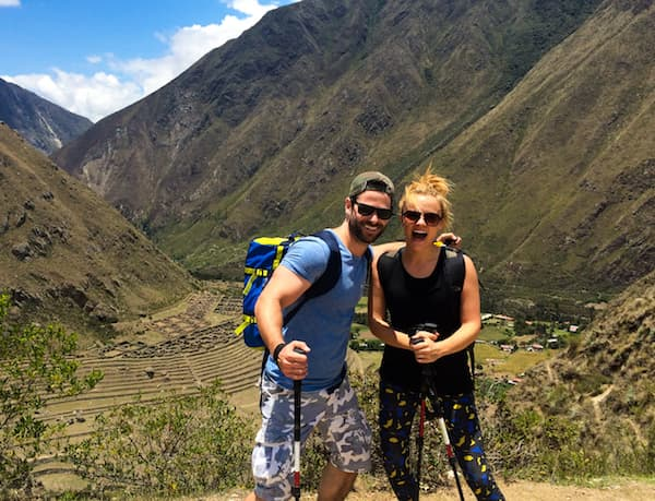 Actress Laura Aikman & Actor Matt Kennard in Peru