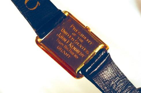 JFK's Omega Wristwatch - Case back