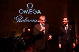 MILAN, ITALY - FEBRUARY 18: Stephen Urquhart and Malik Bey attend OMEGA Globemaster Event at Carlo e Camilla in Segheria on February 18, 2016 in Milan, Italy. (Photo by Vittorio Zunino Celotto/Getty Images for OMEGA)