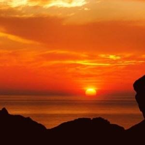 contemplating at dusk