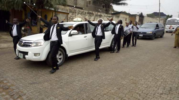 Hearse with Pall Bearers