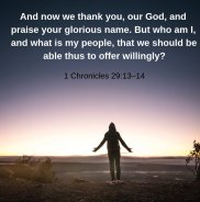Seeing To Thanksgiving (1 Chronicles 29:6-22)