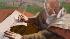 Apostle John writing Revelation