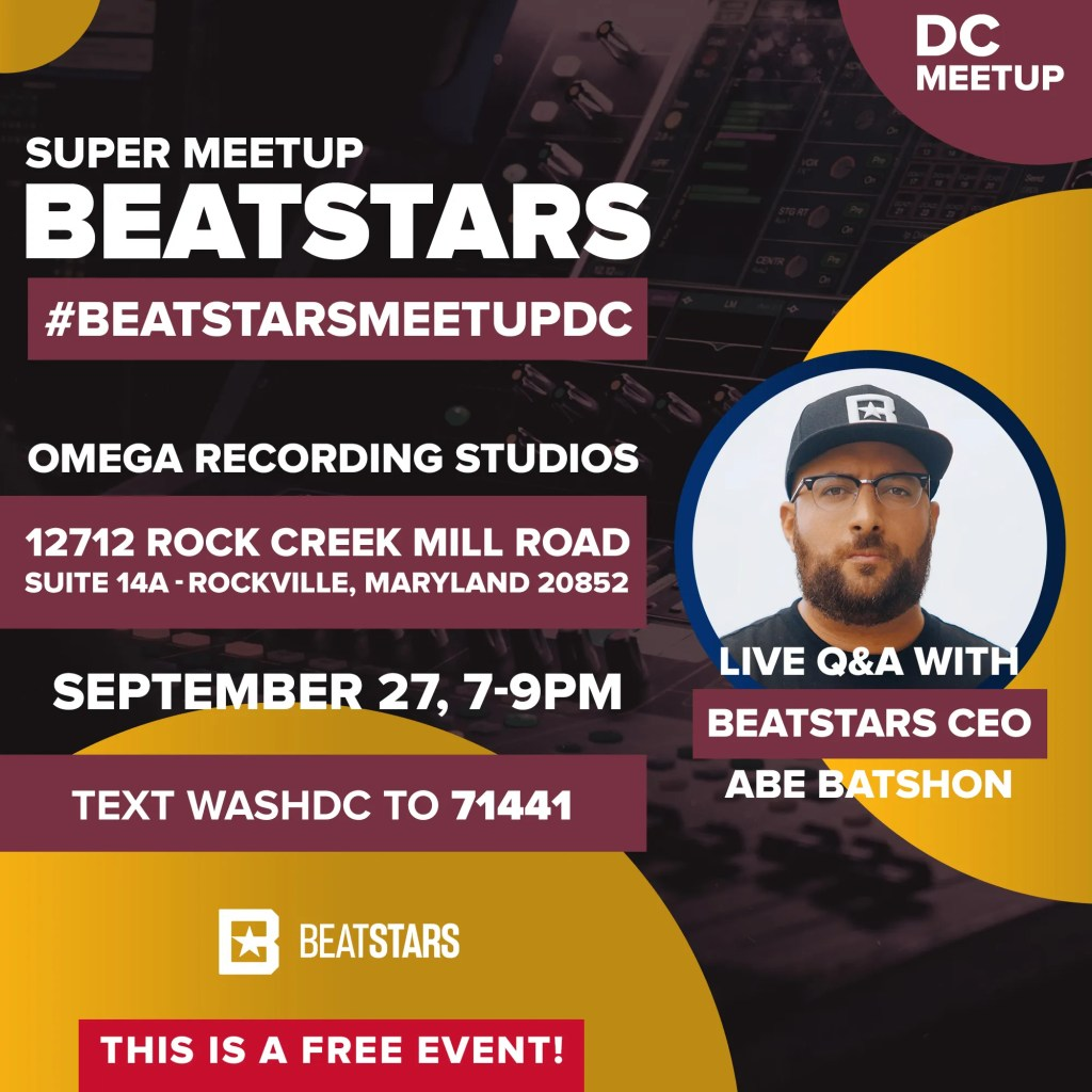 BeatStars Meetup Washington D.C. Omega Recording Studios