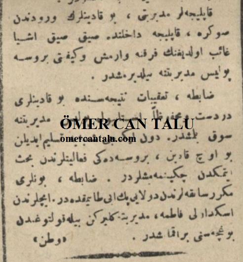 Sevimli hırsızlar Osmanlıca haber 2
