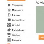 menu do Blogger