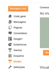 menu do Blogger